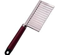 Недорогие -neje нержавеющей стали волнистые лезвие картофеля нож для разрезания