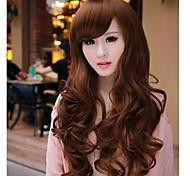 cheap -Fluffy big wave curly hair inclined bang nylon hair wigs