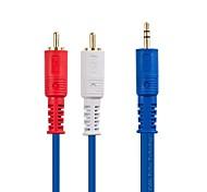 Недорогие -jsj® 1м 3.28ft 3,5 мм стерео штекер 2 RCA мужской аудио кабель для мобильного телефона / транспортного средства / семьи и т.д. звукового оборудования