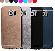 роскошь высокого качества сплошной цвет матового алюминия жесткий чехол для Samsung Galaxy S6