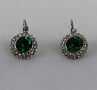 Women's Clip Earrings Costume Jewelry Crystal Rhinestone Alloy Jewelry For Party Daily