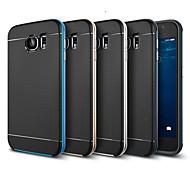 Mobile Samsung - Ronds points/Motif carreaux/Style avec marque - Couvercle de dos - pour Samsung Samsung Galaxy S6 (Or/Argent/Bleu