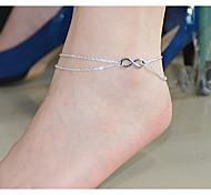 Недорогие -В форме банта Ножной браслет / Цепь Тела / Belly Chain - Жен. Двойной слой В форме банта Ножной браслет Назначение Для вечеринок /