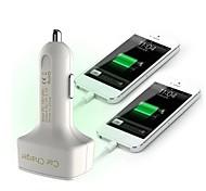 Недорогие -многофункциональный автомобильное зарядное устройство отображения напряжения / ампер и температуры / Два USB порта 12v 3.1a автомобильное