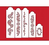 Недорогие -четыре с торта трафарет комплект сторона украшения для торта, печенья и кофе трафаретов, кекс украшения формы, 5pcs / комплект ST-213