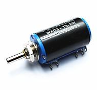 WXD3-13-2W 10Kohm Multi-turn Wirewound Precision Potentiometer - Black + Blue + Silver