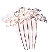 Fashion Alloy Hair Combs With Pearl/Rhinestone Wedding/Party Headpiece