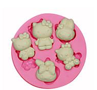 Недорогие -привет украшения торта котенок силиконовые формы силиконовые формы для помадные конфеты ремесла ювелирных изделий PMC смолы глины