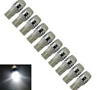 JIAWEN® 10pcs T10 0.5W 40-90LM 6000-6500K Cool White  Side Maker Lamp LED Car Light (DC 12V)