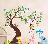 Животные ботанический Геометрия Наклейки Простые наклейки Декоративные наклейки на стены,Винил материал Съемная Украшение домаНаклейка на