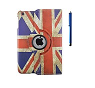 cheap -360 Degree Rotation Flag Pattern PU Leather Case with Stand and Pen for iPad 2/3/4