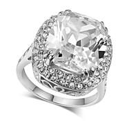 Statementringe Kristall Imitation Diamant Aleación Modisch Luxus-Schmuck Silber Golden Schmuck Hochzeit Party 1 Stück