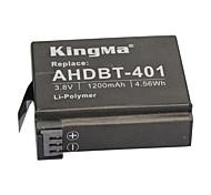 cheap -KingMa® Rechargeable AHDBT-401 Battery 1200mAh for Gopro Hero 4 Black Hero Silver
