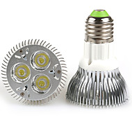 E26/E27 LED Par Lights PAR20 3 High Power LED 480-640 lm Warm White Cold White K AC 100-240 V