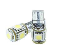 abordables -T10 Automatique Ampoules électriques 1.5W SMD 5050 70-90lm 5 LED Éclairage extérieur For Universel
