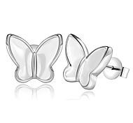 Жен. Серьги-гвоздики Бижутерия Базовый дизайн Мода Серебрянное покрытие Бабочка Бижутерия Назначение Для вечеринок Офис
