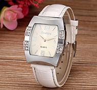 preiswerte -Damen Quartz Armbanduhr Imitation Diamant PU Band Glanz Simulierte Diamant-Uhr Modisch Weiß Blau Rosa Lila Rose