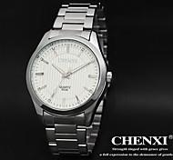 cheap -CHENXI® Men's Dress Watch Quartz Japanese Quartz Water Resistant Casual Watch Stainless Steel Band Luxury Black