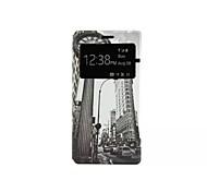 Ретро часы шаблон фенестрация Caller ID шаблон PU кожаный чехол для всего тела для Huawei P8