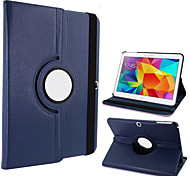 """360-Degree Rotating Faux Leather & TPU Rubber Stand Protective Case for Samsung Galaxy Tab 4 T530 4.0"""" Tablet PC"""