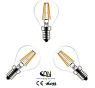 abordables -e14 bulbos de filamento led g45 4 mazorca 400lm blanco cálido 2800-3200k ca 220-240v