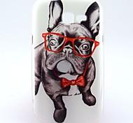 Для Кейс для  Samsung Galaxy С узором Кейс для Задняя крышка Кейс для С собакой TPU Samsung Trend Lite