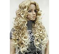 Недорогие -Боковая часть Волосы с окрашиванием омбре Парики из искусственных волос Длинные Кудрявый Карнавальный парик Парик для Хэллоуина Черный