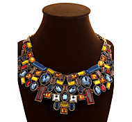 Women's Chain Necklaces Statement Necklaces Crystal Geometric Synthetic Gemstones Crystal Alloy Festival/Holiday European Statement