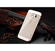 cheap -Fashion Shiny Bling Phone Case Hard Back Cover Case For Samsung Galaxy S6 Edge (Gold)