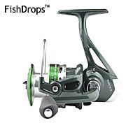 FISHDROPS Aluminum Spool, Metal Handle 5.2:1, 7 Ball Bearings Spinning Reel, Left & Right Hand Exchangble, GS1000