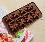 bakeware homem de pão de silicone e muletas fermento em moldes para o chocolate cm-58