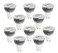 abordables -10pcs 4W 400-450 lm GU10 Focos LED 4 leds LED de Alta Potencia Regulable Blanco Cálido Blanco Fresco Blanco 220-240