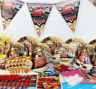 Luxury Cars 78pcs Birthday Party Decorations Kids Evnent Party Supplies Party Decoration 6 People use