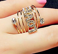 cheap -Statement Rings Cubic Zirconia Simulated Diamond Alloy Star Fashion Jewelry Party 1pc