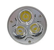 Недорогие -GU5.3(MR16) Точечное LED освещение MR16 3 светодиоды Высокомощный LED 400lm Тёплый белый Холодный белый DC 12 AC 12
