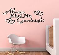 всегда поцелуй меня спокойной ночи котировки zy8053 ADESIVO де Parede винил наклейки домашнего декора росписи искусства