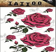 1 Временные тату Тату с цветами Non Toxic Большой размер Нижняя часть спиныЖенский Вспышка татуировки Временные татуировки