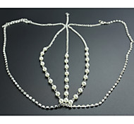 симпатичная жемчужина бриллиантовая цепочка свадьба / вечеринка головной убор элегантный стиль