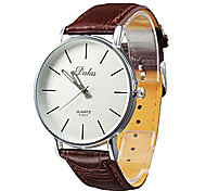 cheap -Men's Quartz Wrist Watch Japanese Casual Watch PU Band Casual Minimalist Black White Red Brown