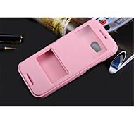 Недорогие -Для Кейс для HTC со стендом / с окошком / Флип Кейс для Чехол Кейс для Один цвет Твердый Искусственная кожа для HTCHTC One M9 / HTC One