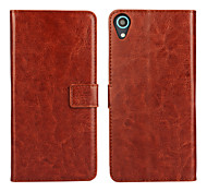 cheap -Case For HTC HTC Case Card Holder Wallet with Stand Flip Full Body Cases Solid Color Hard PU Leather for