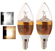 E14 Luzes de LED em Vela 5LED leds COB Branco Quente Branco Frio 400-450lm 2800-3500/6000-6500K AC 85-265V