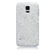 кружева цветы шаблон ТПУ мягкий переплет дело на Samsung Galaxy S3 S4 S5 S6 s3mini s4mini s5mini s6 края