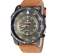 JUBAOLI® Men's Military Style Fabric Band Quartz Wrist Watch Cool Watch Unique Watch