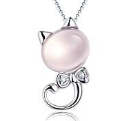Ожерелье Ожерелья с подвесками Бижутерия Повседневные Стерлинговое серебро Серебряный 1шт Подарок