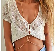 cheap -Body Jewelry/Body Chain Alloy Others Unique Design Fashion Gold 1pc