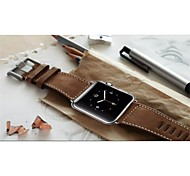 Watch Band for Apple Watch 3 42mm Leather Watch Strap Classic Buckle