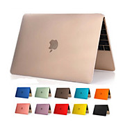 "Case for Macbook 12"" Transparent Solid Color Plastic Material High Quality Transparent Clear PVC Full Body Hard Case Cover"