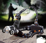 Headlamps Headlight LED 1800lm lm 4 Mode Cree XM-L T6 Cree Q5 with Charger Zoomable Adjustable Focus Waterproof Camping/Hiking/Caving