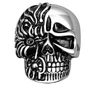Недорогие -Кольца В форме черепа Свадьба / Для вечеринок / Повседневные / Спорт Бижутерия Титановая сталь Мужчины Массивные кольца 1шт,9 / 10Черный
